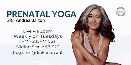 Prenatal Yoga with Andrea Barton tickets