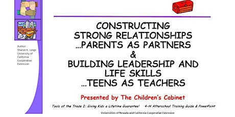 Constructing Strong Relationships / Building Leadership and Life Skills tickets