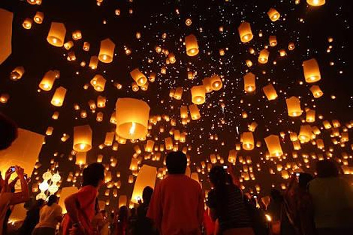 "Sky Lantern Festival "" Release Your Wishes in the  Sky "" image"