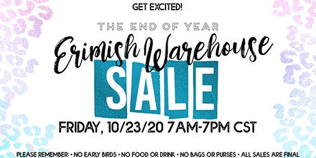 Erimish Warehouse Sale tickets