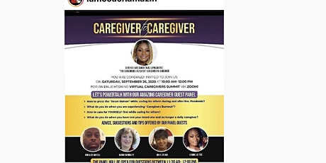 Virtual Caregivers Summit. Let's Power Talk With Caregiver -To-Caregiver tickets