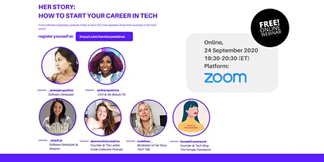 Her Story - How you can start your career in tech tickets