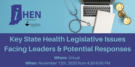 Key State Health Legislative Issues Facing Leaders & Potential Responses tickets