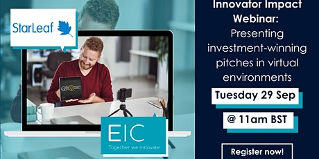 Presenting investment-winning pitches in virtual environments tickets