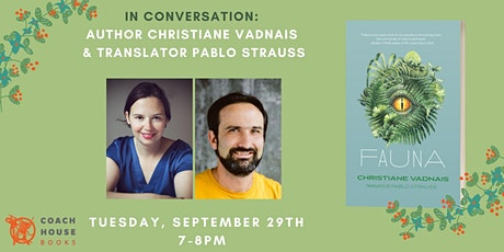 In Conversation: Author Christiane Vadnais and Translator Pablo Strauss tickets