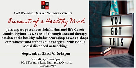 Pursuit of a Healthy Mind for Female Entrepreneurs & Boss Ladies tickets