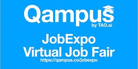 College / University Virtual JobExpo Career Fair Greeneville Qampus.co tickets