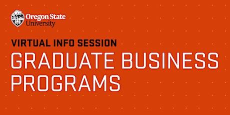 Virtual Information Session | OSU Graduate Business Programs tickets