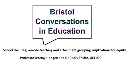 Bristol Conversations in Education research seminar tickets