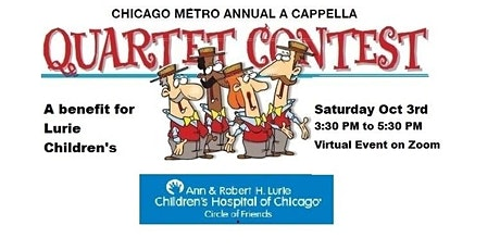 Virtual A Cappella Quartet Contest to benefit Lurie Children's tickets