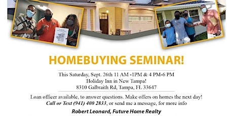 Home Buyer Seminar, with Free Drinks ! tickets