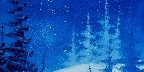 Happy Trees Art: Bob Ross Style Painting - Snowman Wonder tickets
