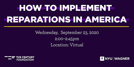 How to Implement Reparations in America tickets