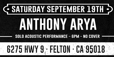 Anthony Arya (Dinner & Show - No Cover) tickets