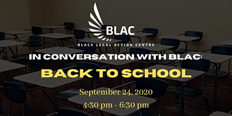 In Conversation with BLAC: Back to School tickets