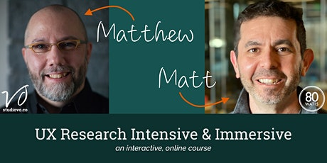 UX Research Intensive and Immersive Training tickets