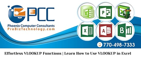 Effortless VLOOKUP Function | Learn How to Use VLOOKUP in Excel (4.5 Hrs) tickets