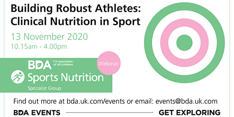 BDA Sports Nutrition Group Webinar 2020 biglietti