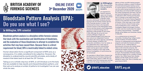 Bloodstain Pattern Analysis (BPA): Do you see what I see? tickets