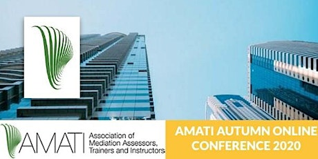 AMATI Autumn Online Conference 2020 - Training Mediators Online tickets