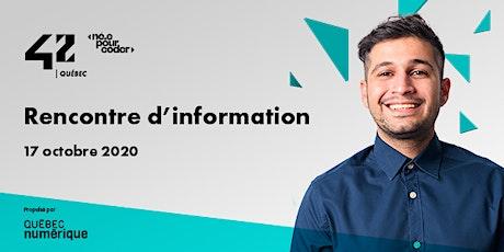 42 Québec - Rencontre d'information billets
