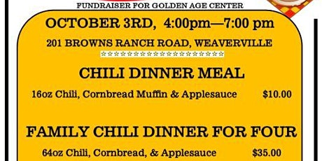 Chili Dinner, Fundraiser for Golden Age Center tickets