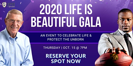 2020 Life Is Beautiful Gala with Coach Lou Holtz and NFL Star Ben Watson tickets