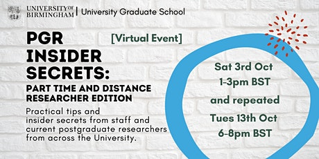 (PGR): Insider Secrets for Part-Time and Distance Researchers tickets