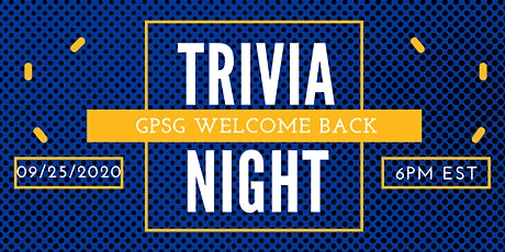 GPSG Welcome Back Trivia Night tickets