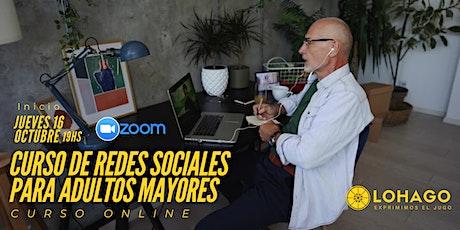 Curso de Redes Sociales para Adultos Mayores boletos