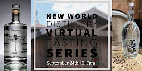 New World Distillery Virtual Tasting tickets
