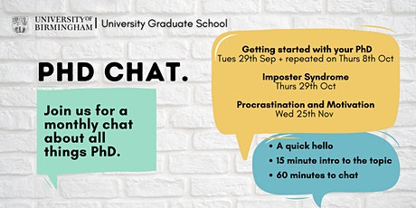 PhD Chat: Getting Started with your PhD tickets