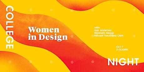 College Night: Women in Design tickets