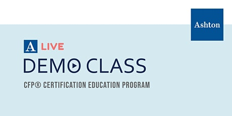 CFP® Certification Education Program Live Online Demo Class tickets