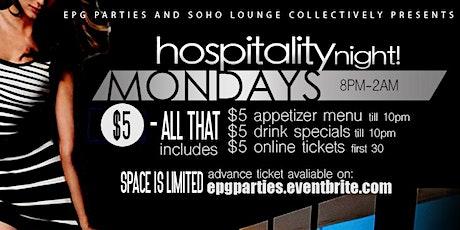 hospitality Mondays tickets