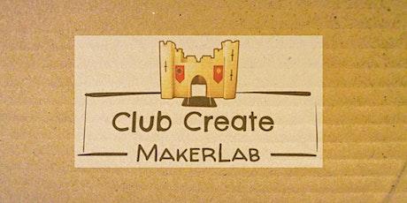 Club Create MakerLab October Workshop: Cardboard tickets