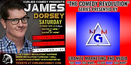 """Curlies Comedy Presents: """"The Comedy Revolution"""" with James Dorsey tickets"""