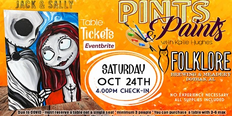 Pints & Paints Jack and Sally tickets