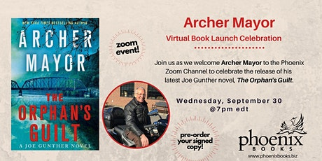 Archer Mayor:  The Orphan's Guilt Virtual Book Launch Celebration tickets