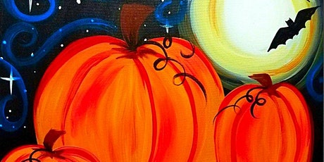 IN STUDIO CLASS  Moonlit Pumpkins Fri Oct 23rd 6:30pm $35 tickets