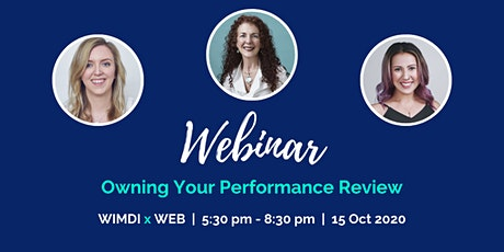 WIMDI Interactive Webinar - Own Your Performance Review tickets