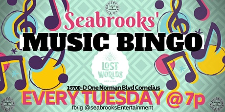 MUSIC BINGO TUESDAY 7pm  at LOST WORLDS BREWING. FIND YOUR ADVENTURE !! tickets