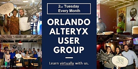Orlando Alteryx User Group-Monthly Virtual Meeting tickets