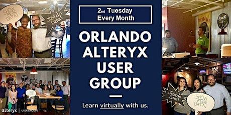 Orlando Alteryx User Group-Monthly Virtual Meeting biglietti