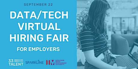 Meet Data & Tech Talent   33 Talent & Sparkline Virtual Hiring Fair tickets