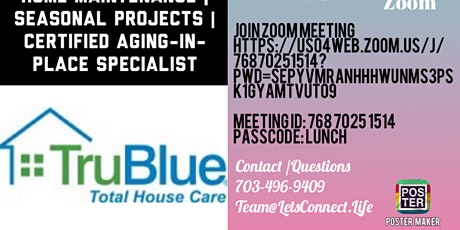 Let's Connect Lunch and Learn with TruBlue Total House Care Vienna tickets
