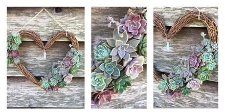 Succulent Heart Wreath Workshop tickets