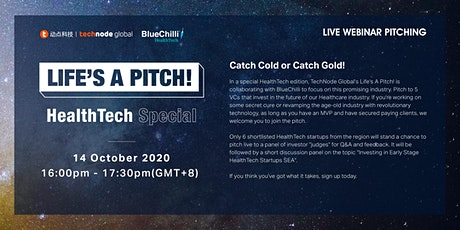 Life's A Pitch! - HealthTech Special in collaboration with BlueChilli tickets