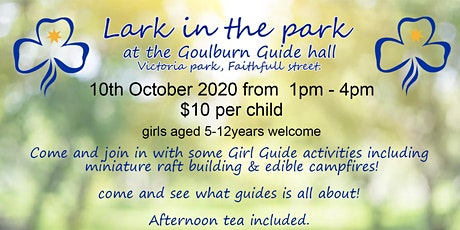 Lark in the park with Goulburn girl guides tickets