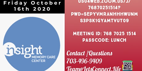 Let's Connect, LLC -Lunch and Learn with Insight Memory Care Center,Lindsey tickets